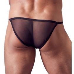 Slip noir transparent homme
