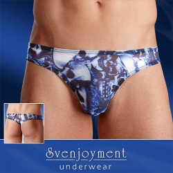 String voile bleu homme tie and dye