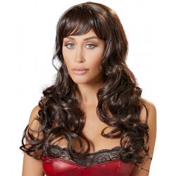 Perruque cheveux longs brun reflets auburn