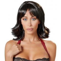 Perruque noire coupe courte dégradée