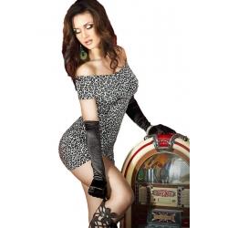 Petite robe léopard moulante