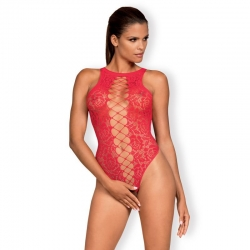 Body sexy rouge dentelle