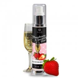 Huile de massage Fraise et Vin pétillant 50 ml