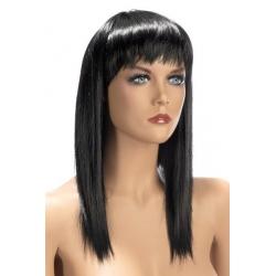 Perruque longue brune Allison avec franges