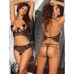 Ensemble 2 pièces seins nus noir