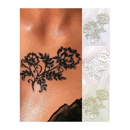Tatouage - Tatoo - Bijoux de peau adhésif fleur