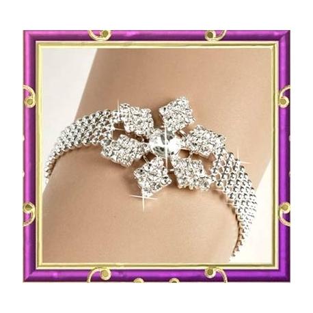 Bracelet argenté et strass étoile