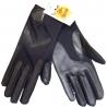 Gants noirs stretch et simili cuir