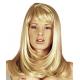 Perruque blonde dorée coupe longue à franges