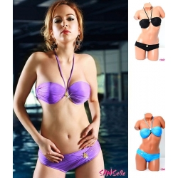 Maillot de bain sexy push up 2 pièces 3 coloris