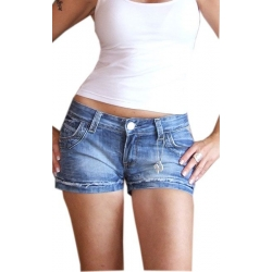 Short en jean stretch délavé bleached