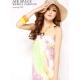 Longue robe plage couleurs pastels