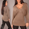 Pull sexy manches longues 3 coloris
