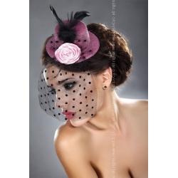 Mini chapeau rose pailleté