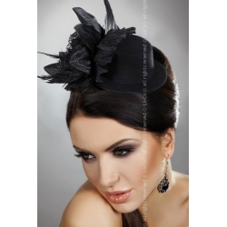 Mini chapeau bibi à fleur noir