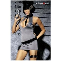 Costume policière sexy ensemble 5 pièces