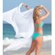 Bikini bandeau émeraude et or
