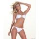bikini bandeau blanc à nouer