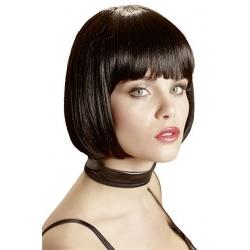 Perruque cheveux noirs coupe carré court