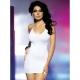 Mini robe bustier bijou blanche