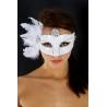 """Masque loup blanc et argenté """"cat woman"""""""