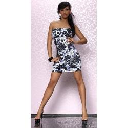 Mini robe bustier printanière fleurie