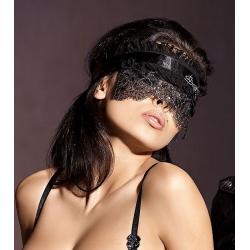 Masque dentelle noir et argent Axami