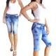 Corsaire jean stretch délavé bleu stone used