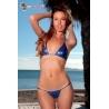 Mini maillot de bain triangle brésilien Hawaii bleu indigo