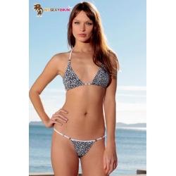 Mini maillot de bain triangle brésilien léopard