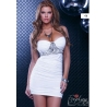 Robe bustier stretch blanche FORPLAY