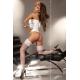 Bustier corset blanc Livia Corsetti et string assorti