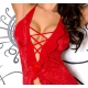 Nuisette voile frou-frou rouge Axami