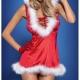 Costume mère Noël sexy robe à capuche