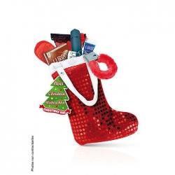 Botte de Noël cadeaux surprise pailletée rouge