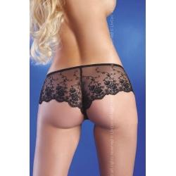 Shorty voile et dentelle noir Livia corsetti
