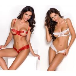 Ensemble 2 pièces sexy rouge
