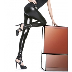 Legging sexy brillant moulant noir