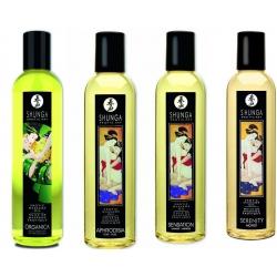 Huile de massage érotique Shunga 4 parfums