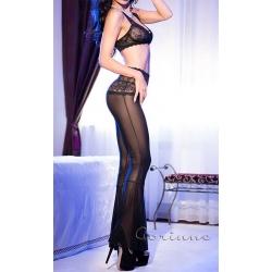 Ensemble pantalon lingerie transparent et dentelle