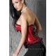 Bustier corset satiné rouge et noir