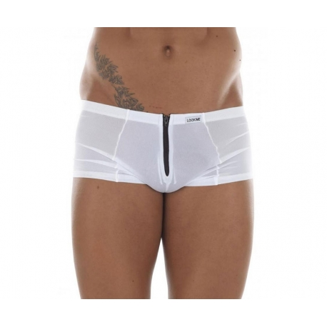 Shorty homme blanc confort taille basse