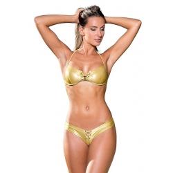 Bikini tanga lycra métallisé - 2 coloris