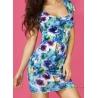 Mini robe fleurie d'été moulante