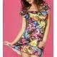 Mini robe fleurie d'été évasée