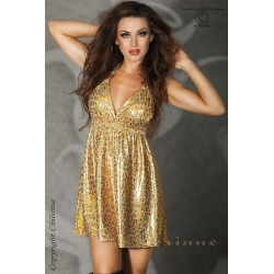 Mini robe dorée d'été