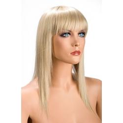 Perruque blonde mi longue avec frange