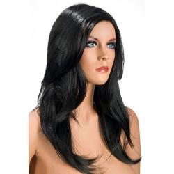 Perruque longue brune sans frange