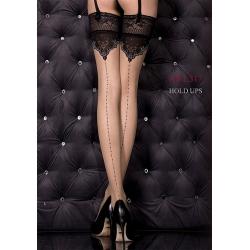 Bas chair autofixant couture jarretière dentelle luxe