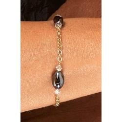 Bracelet créateur hématites et Swarovski